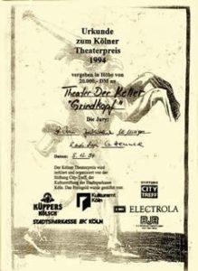 1994 Tankred Dorst Großer Kölner Theaterpreis